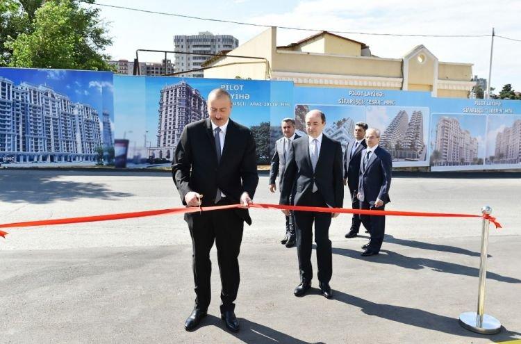 Prezident məhkəmə binasının açılışında iştirak edib