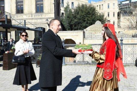 Prezident və birinci xanım Novruz şənliyində iştirak ediblər