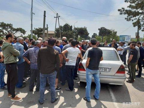 Azərbaycanlılar Gürcüstanda etiraz aksiyası keçirib