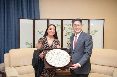 Leyla Əliyeva Çində nazir müavini ilə görüşdü
