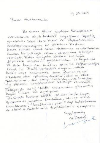 Mustafa Dənizli istefa verdi
