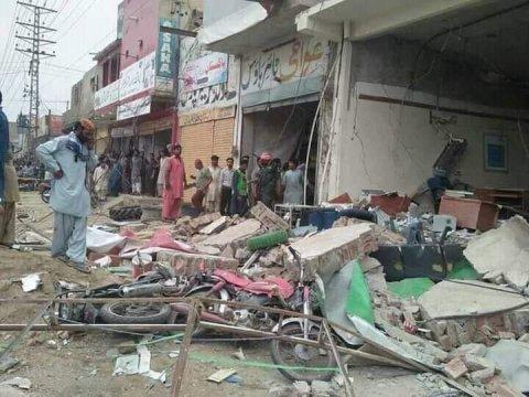 Pakistanda bankda partlayış olub, xəsarət alanlar var