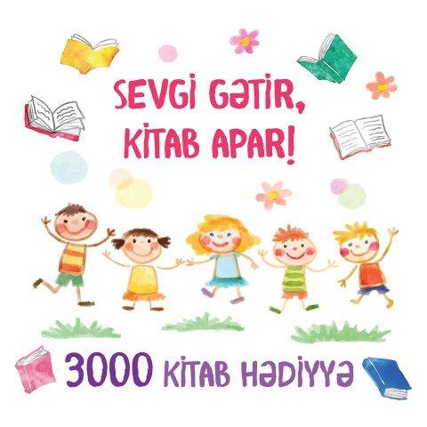 Azərbaycanda uşaqlar üçün qeyri-adi kitab aksiyası başladı