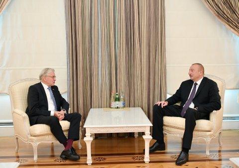 İlham Əliyev Niderland-Azərbaycan Dostluq Qrupunun sədrini qəbul edib