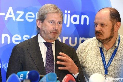 """Aİ komissarı: """"Biz Azərbaycanla bundan sonrakı 10 il üçün prioritetləri müəyyən etməliyik"""""""
