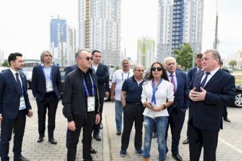 Leyla Əliyeva, Oqtay Əsədov, Yaqub Eyyubov... - Minskdə idmançılarımızla görüşdülər