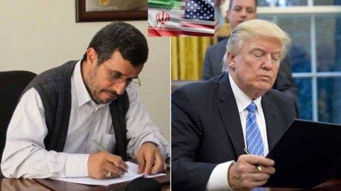 Mahmud Əhmdinejad prezident Trampa məktub yazdı