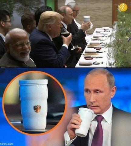 Putinin stəkanı müzakirələr doğurub – Kremldən izah