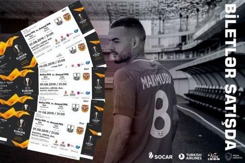 """Neftçi"" - ""Arsenal"" oyununun biletləri satışa çıxarıldı"