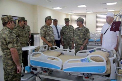 Nazir cəbhəboyu zonada yeni tikilən hospitalın açılışında iştirak edib