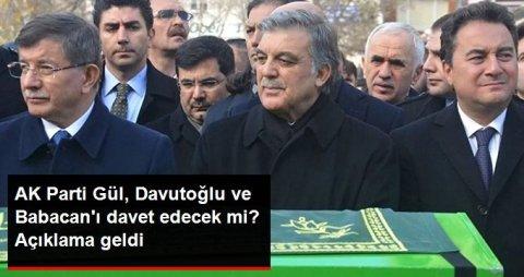 Ərdoğan Gül, Babacan və Davudoğlunu AKP-nin məclisində görmək istəmədi
