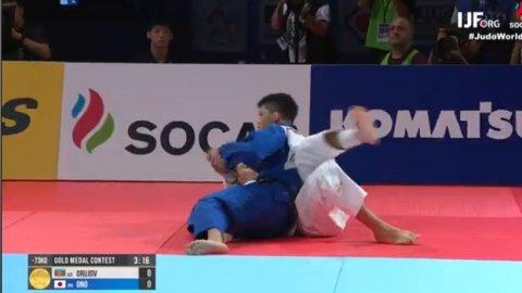 Rüstəm Orucov dünya çempionatının finalında uduzdu