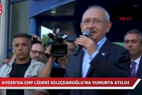 """CHP liderinə mitinqdə hücum olundu: """"Bizi yolumuzdan çəkindirə bilməzlər"""""""
