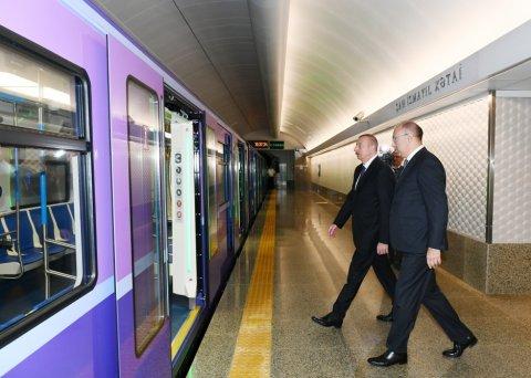 """Prezident  Bakıda məktəbdə və """"Xətai"""" stansiyasında görülən işlərlə tanış olub"""