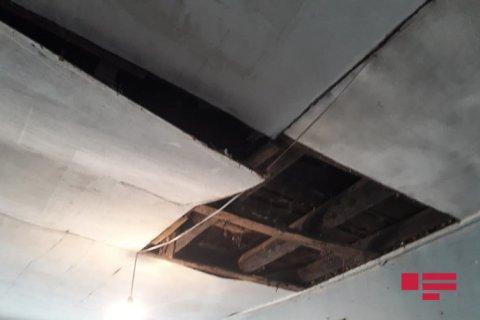 Orta məktəb binasının tavanı çökdü