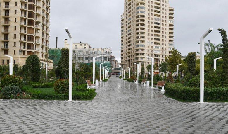 İlham Əliyev və xanımı daha bir parkın açılışında