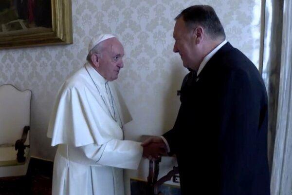 Pompeo Papa ilə görüşdü