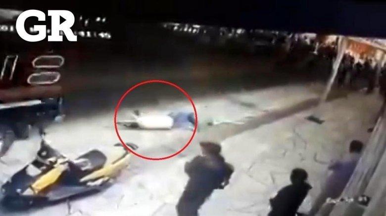 Bələdiyyə sədrini avtomobilə bağlayıb sürüdülər - Video