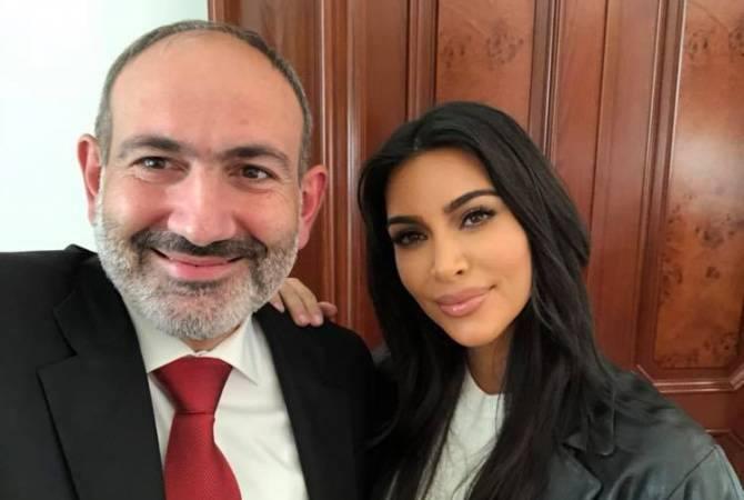 Kim Kardaşyan Ermənistan baş naziri ilə görüşdü