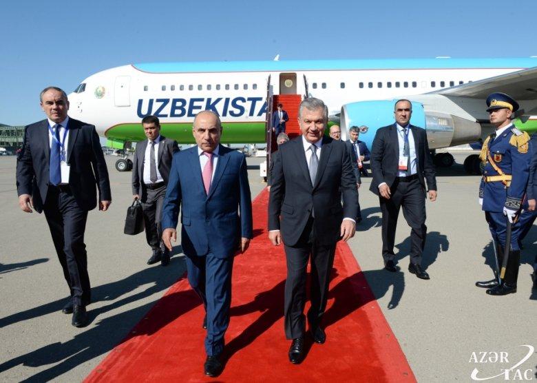 Özbəkistan prezidenti Bakıya gəlib