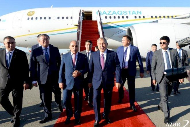 Nursultan Nazarbayev Bakıya gəlib