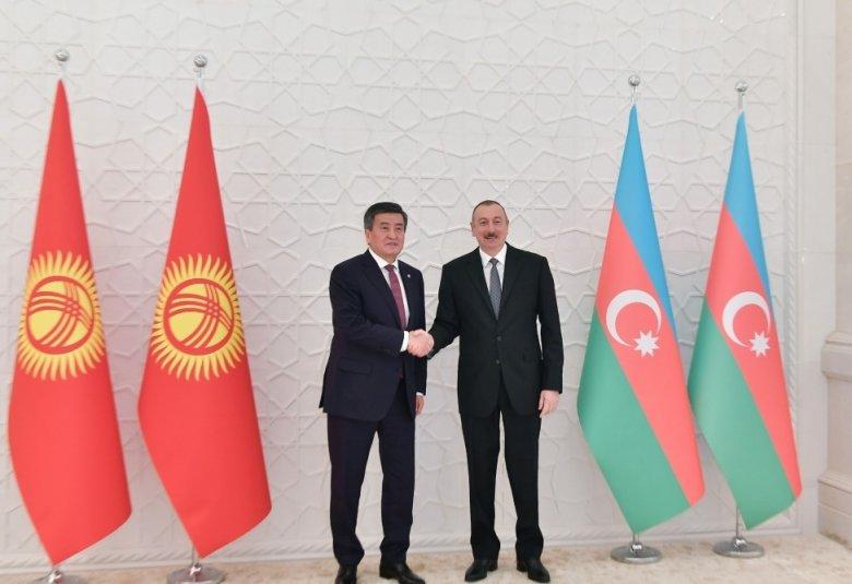 Azərbaycan və Qırğızıstan prezidentləri arasında görüş olub