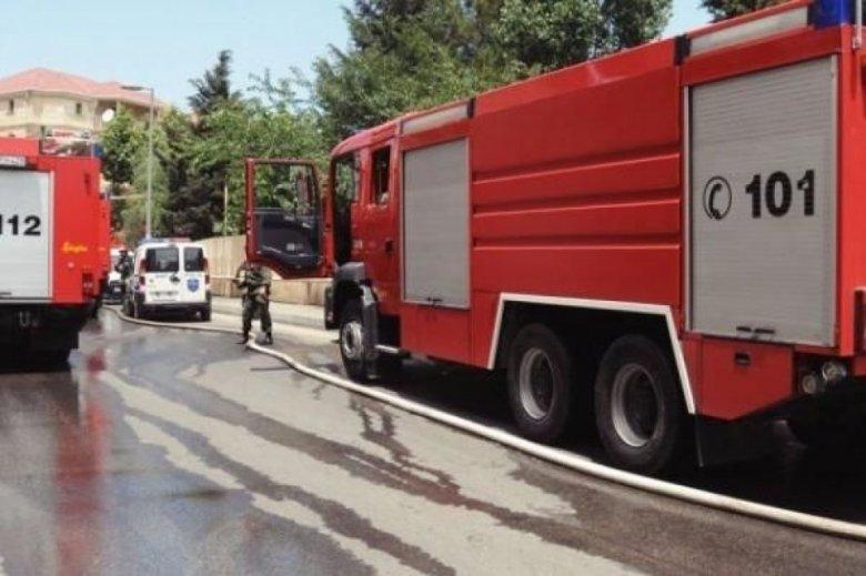 Şəmkirdə kafe və mağazalar kül oldu - Güclü yanğın