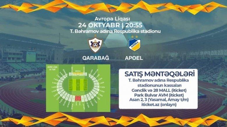 """""""Qarabağ"""" - APOEL oyununun biletləri satışa çıxarılır"""