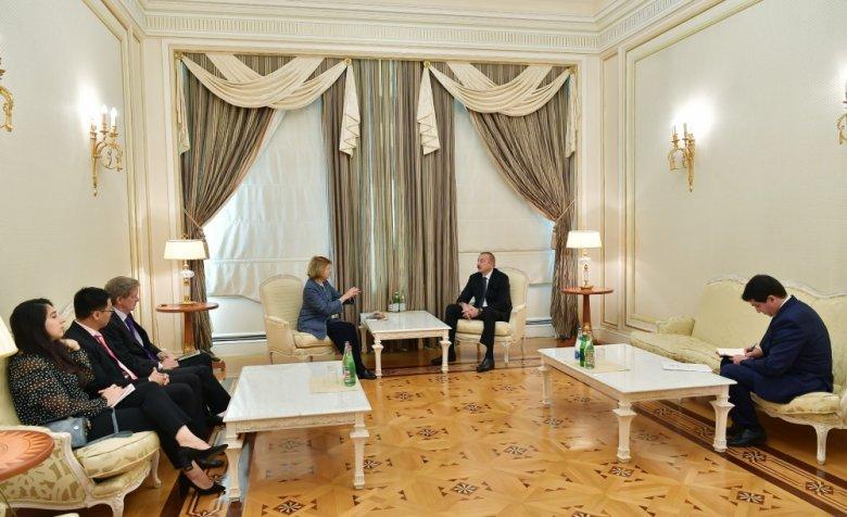 Prezident Böyük Britaniya Baş Nazirinin Azərbaycan üzrə ticarət elçisini qəbul edib