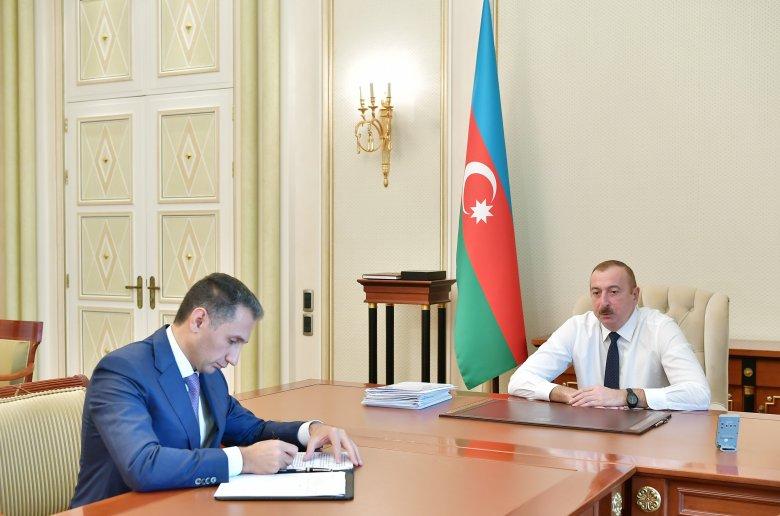 """İlham Əliyev """"Azərkosmos"""" ASC-nin sədrini qəbul edib"""
