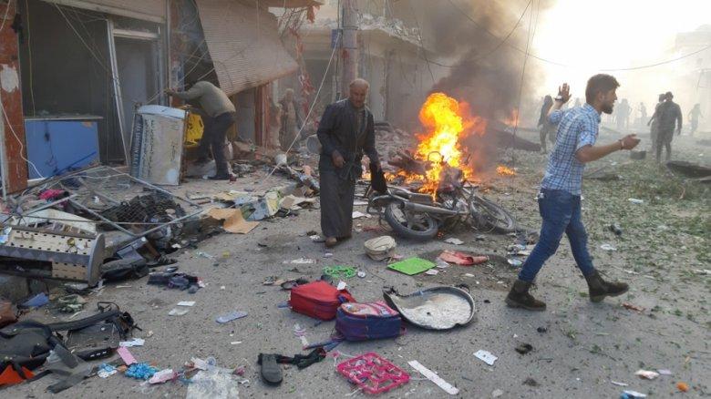 YPG bomba yüklü maşını partlatdı: 13 dinc sakin həlak olub, 20 nəfər yaralanıb