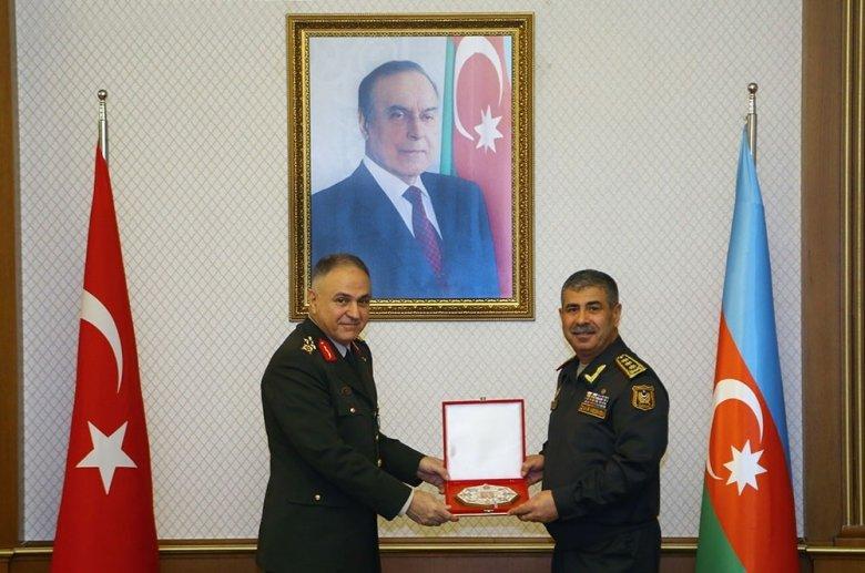 Zakir Həsənov Türkiyənin yüksək səviyyəli hərbi nümayəndə heyəti ilə görüşüb