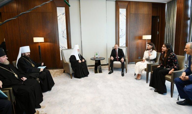 Prezident Moskvanın və Bütün Rusiyanın Patriarxı Kirill ilə görüşüb
