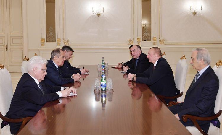 İlham Əliyev Sergey Lavrovu qəbul edib