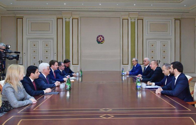 İlham Əliyev Rusiyanın İqtisadi İnkişaf nazirini qəbul edib