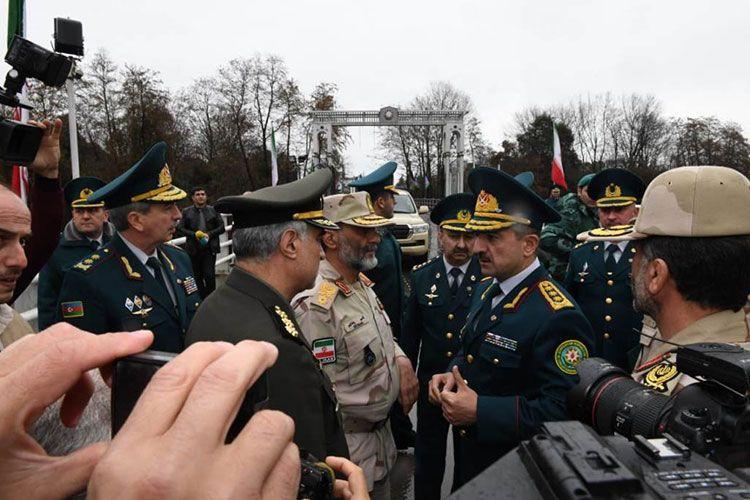 Elçin Quliyev iranlı komandanla görüşüb