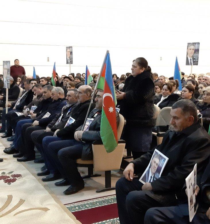 Beyləqanda Vüqar Bayramovu böyük sevgi ilə qarşılayıblar