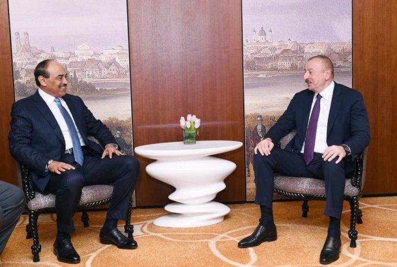 Prezident İlham Əliyev  Küveytin Baş Naziri ilə görüşdü