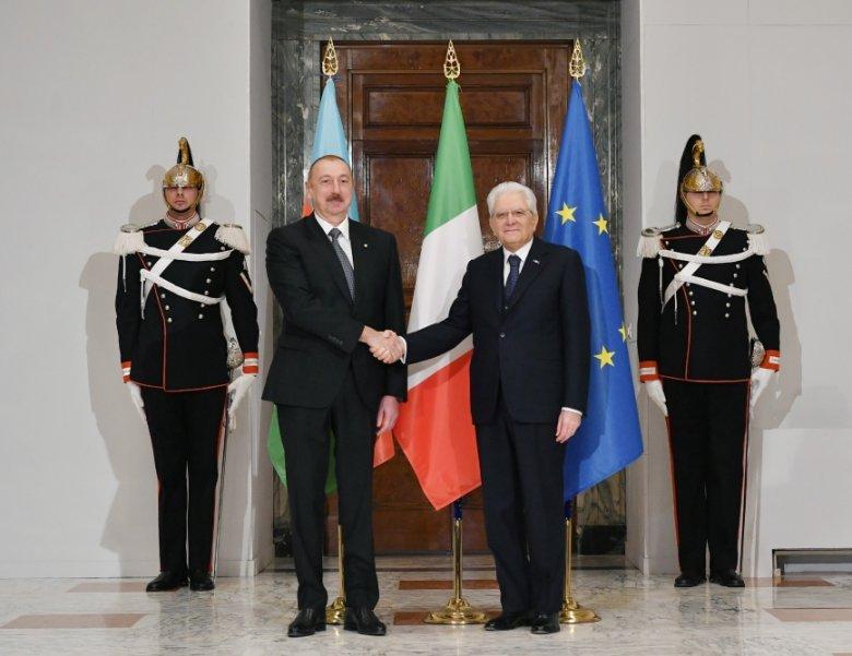 Prezident İlham Əliyevin Romada rəsmi qarşılanma mərasimi olub