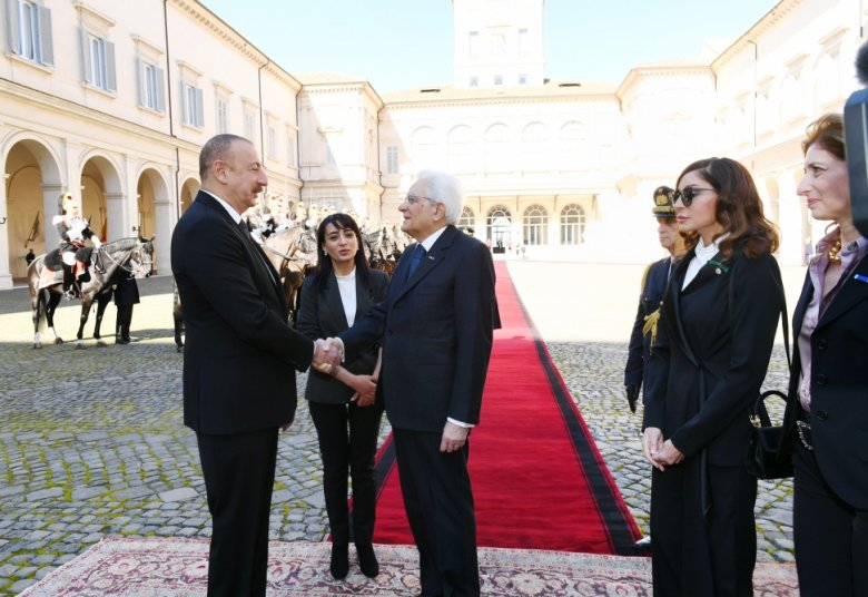 Prezident İlham Əliyevin Romada rəsmi yolasalma mərasimi olub