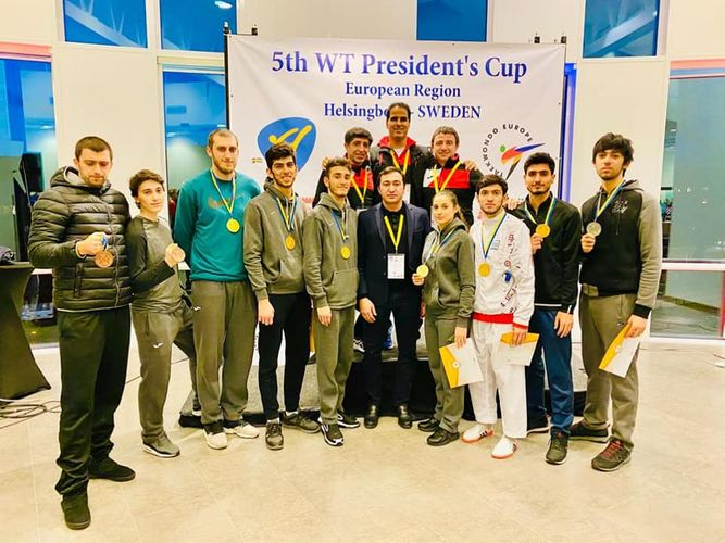 Taekvondoçularımız İsveçdən 9 medalla qayıdıb