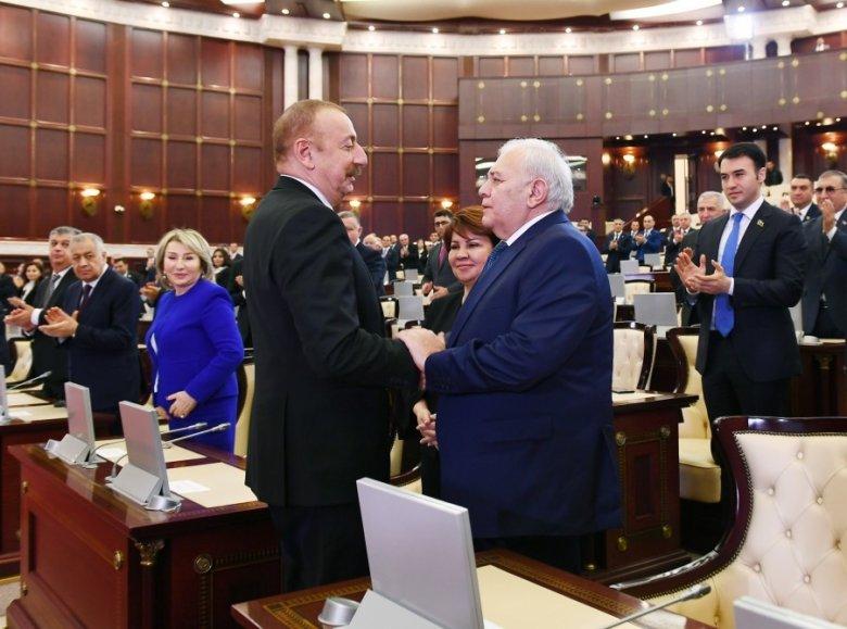 İlham Əliyev sabiq spikerə təşəkkür edib