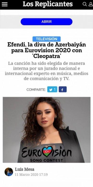 """""""Eurovision-2020"""" təmsilçimizin mahnısı çox bəyənilir"""
