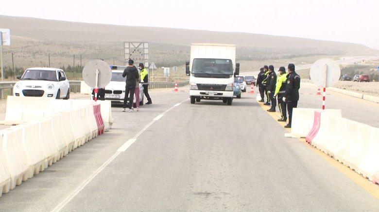 Bakı, Sumqayıt və Abşeronamaşınların daxil olmaması üçün qurulan polis postları: vəziyyət necədir?