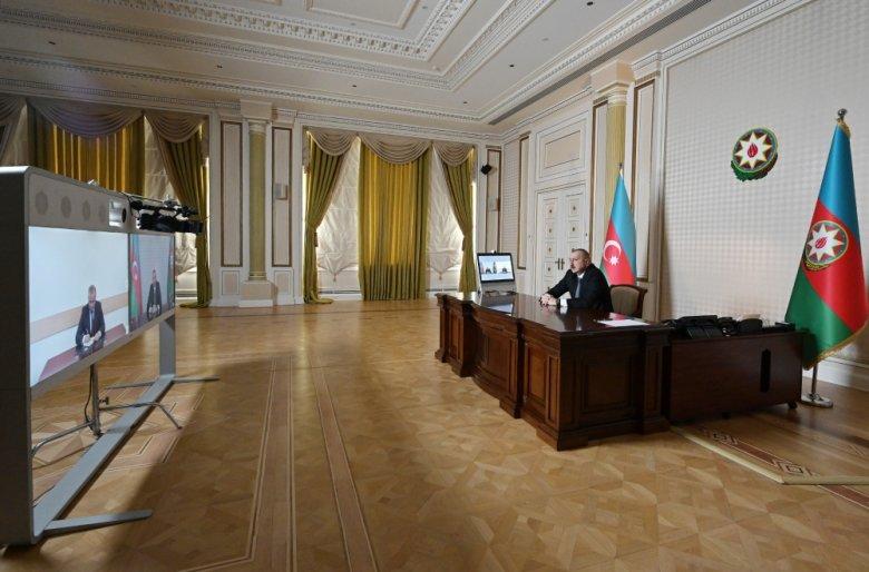 Prezident yeni icra başçısını videoformatda qəbul edib
