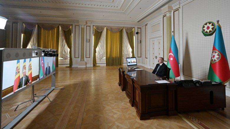 Prezident İlham Əliyev Moldovanın dövlət başçısını Azərbaycana dəvət etdi