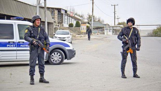 Polis bir ərazini nəzarətə götürdü, giriş-çıxış dayandırıldı