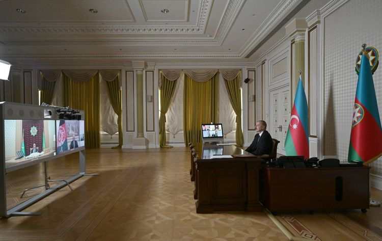Azərbaycan, Əfqanıstan və Türkmənistan prezidentlərinin videokonfrans vasitəsilə görüşü keçirilib